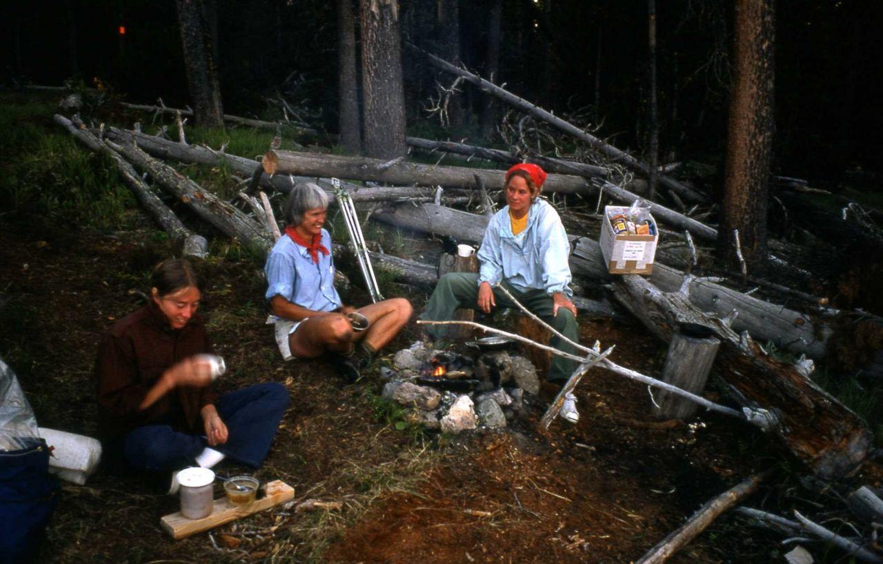 Backcountry campsite along lakeshore Photo