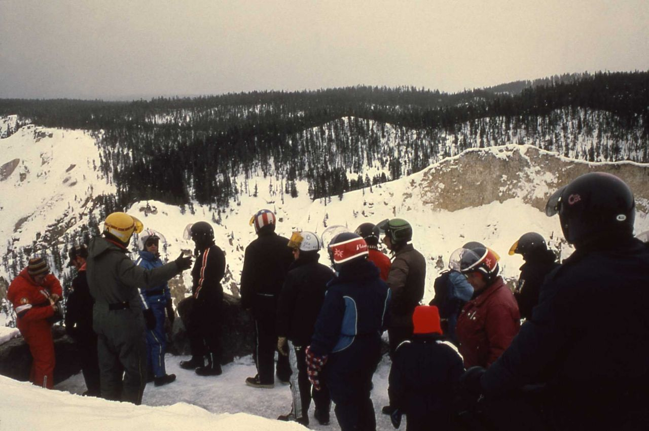 Snowmobile tour at the Grand Canyon of the Yellowstone Photo