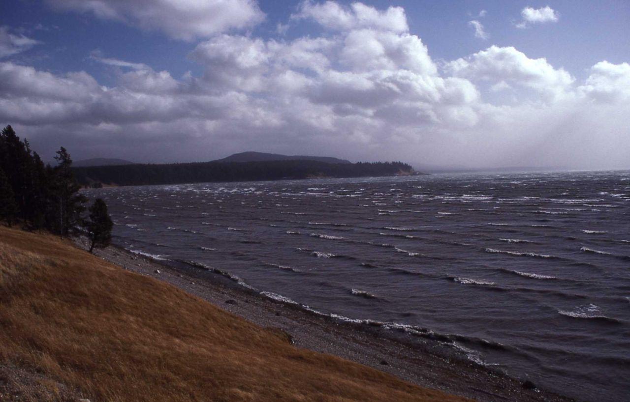 Waves on Yellowstone Lake Photo