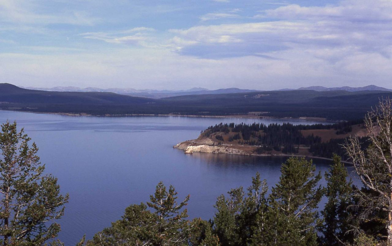 Steamboat Point & Sedge Bay on Yellowstone Lake as seen from Lake Butte overlook Photo
