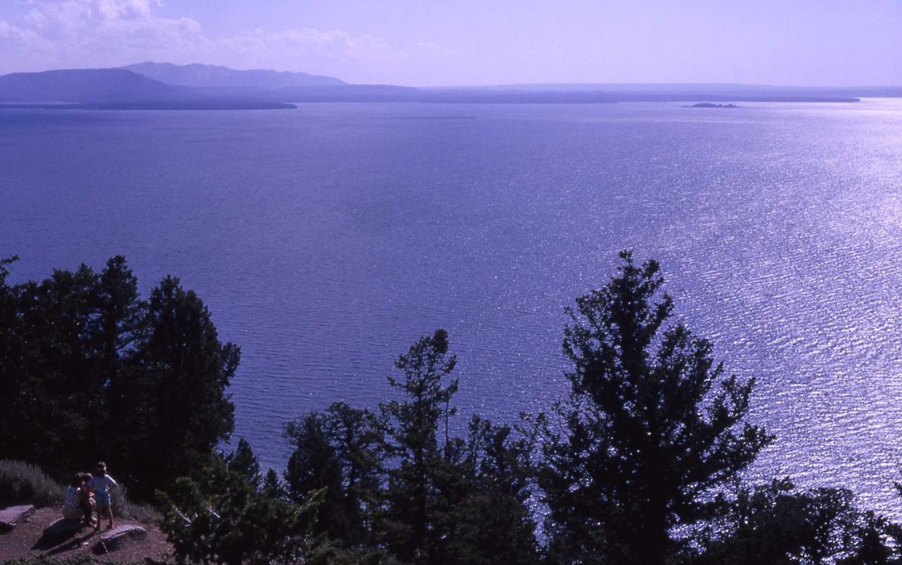 Yellowstone Lake as seen from Lake Butte Photo