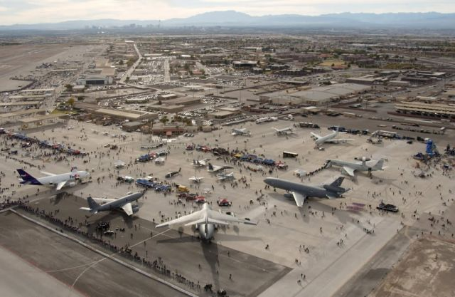 Las Vegas in the distance during Aviation Nation - Aviation Nation at Nellis Picture