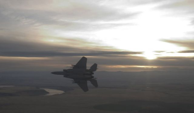 F-15 Eagle - Flying over Idaho Picture