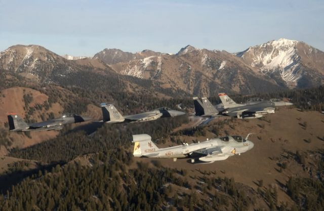 Electronic Control Squadron at Naval Air Station - Flying over Idaho Picture