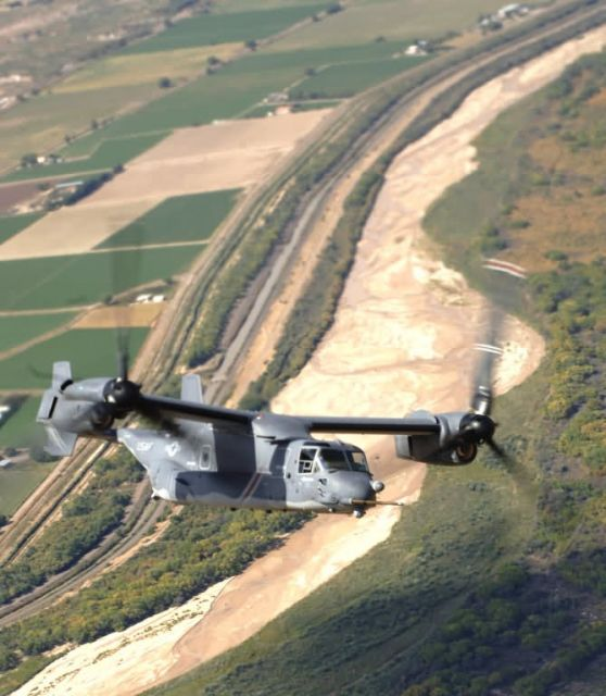 CV-22 Osprey flies an air-refueling mission - Pilots thrilled by CV-22 capabilities Picture
