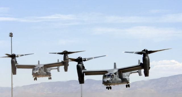 Holloman Air Force Base - Ospreys in flight Picture