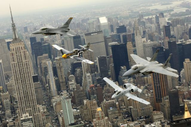 P-51 Mustang - Heritage Flight over New York Picture