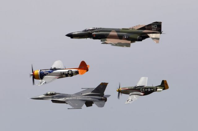 Defenders of Liberty Airshow - Heritage flight Picture