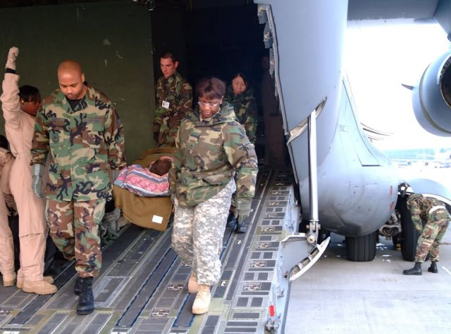 C-17 Globemaster III - Medics make air evacuation easier on wounded troops Picture
