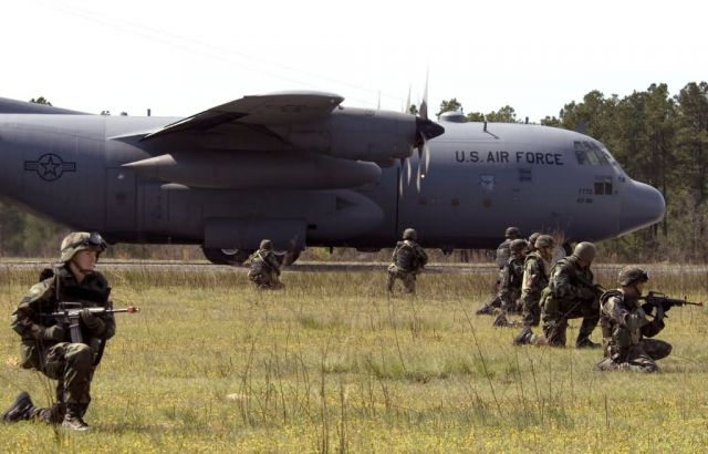 C-130 Hercules - Airmen train for air evac Picture