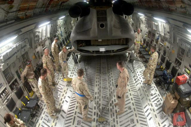 CH-47 helicopter - C-17 cargo load Picture