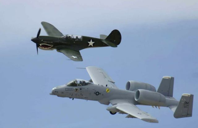 P-40 Warhawk - Heritage flight Picture