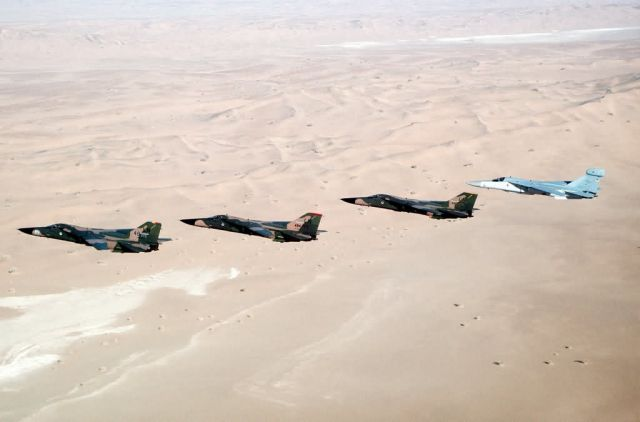 F-111F aircraft and an EF-111A Raven aircraft Picture
