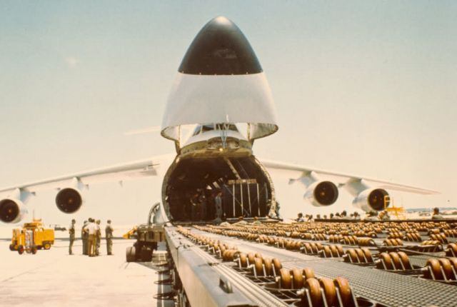 C-5 Galaxy - Cam Rahn Bay Air Base, South Vietnam Picture