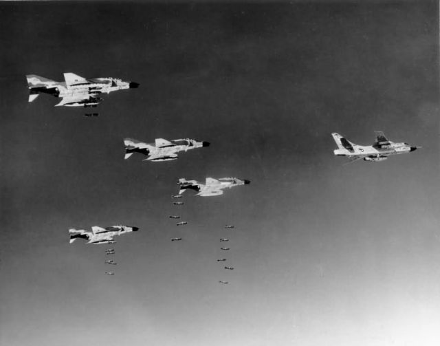 F-4C Phantoms - Bombing Communist military target Picture
