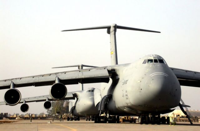 C-5 Galaxy - Crowding the runway Picture