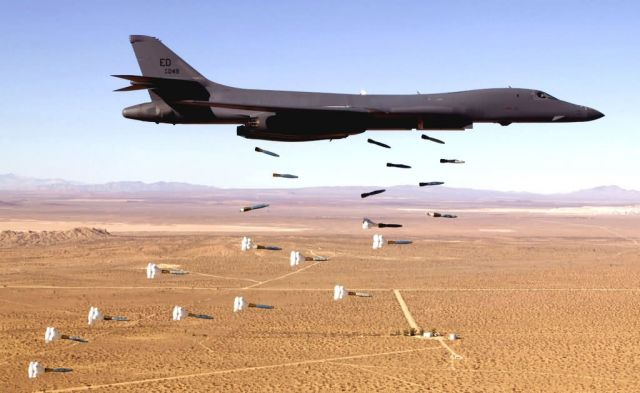 B-1B Lancer - Lancer delivers payload Picture