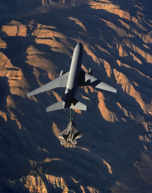 KC-10 Extender - Sunset refueling Picture