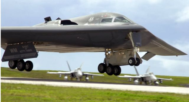 B-2 - Final approach - landing gear down Picture