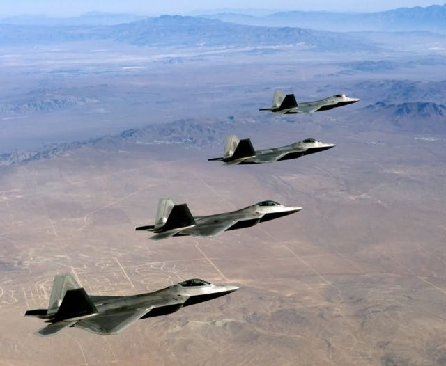 F/A-22 Raptors - Raptors as far as the eye can see Picture