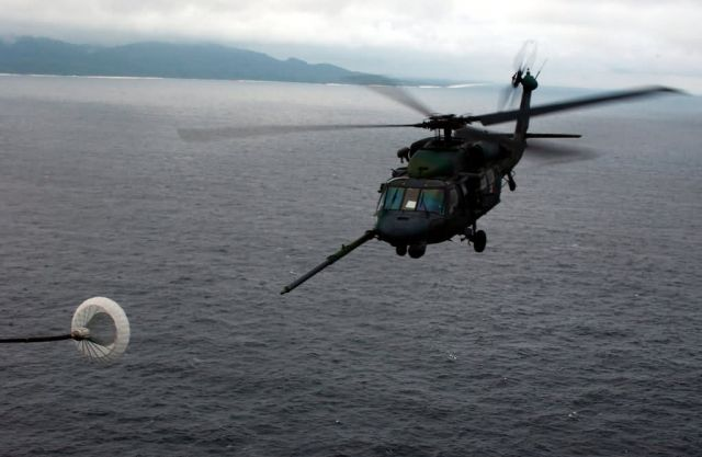 HH-60G Pave Hawk - Fueling over the sea Picture