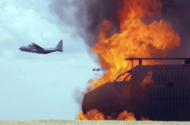 C-130 Hercules - Fire pit Picture