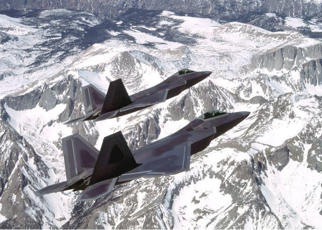F/A-22 Raptors - Dual raptors Picture