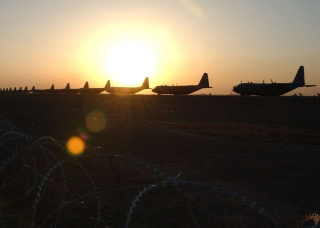 C-130 Hercules - Southwest Asia sunset Picture