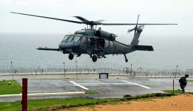 HH-60G Pave Hawk - Embassy landing Picture