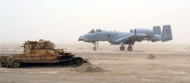 A-10 Thunderbolt II - Rolling past a relic Picture