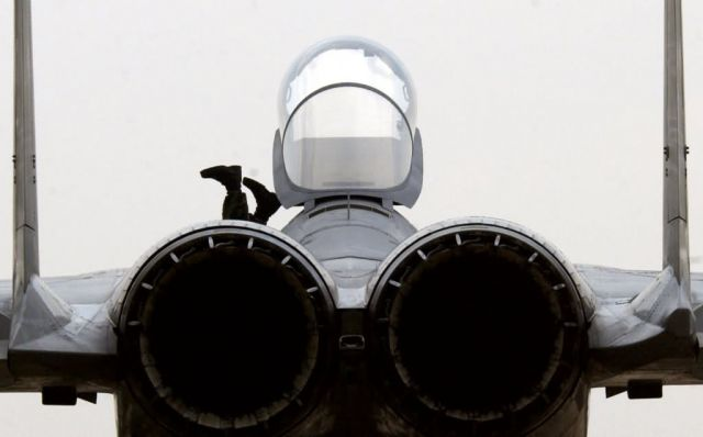 F-15C Eagle - Just a foot or two Picture