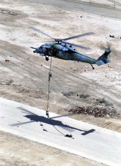 HH-60G Pave Hawk - Fast rope Picture