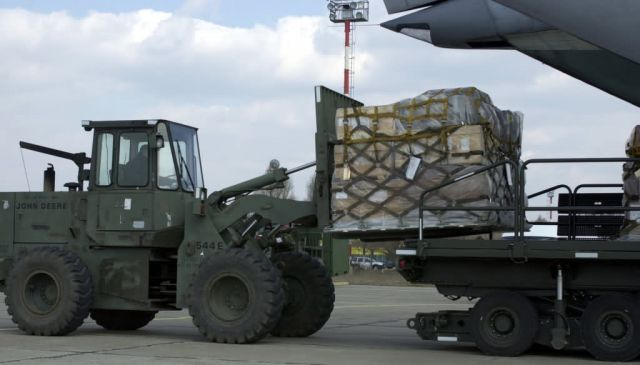 C-141 Starlifter - Forklift Picture