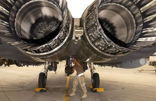F-15E Strike Eagle - Eagle maintainer Picture