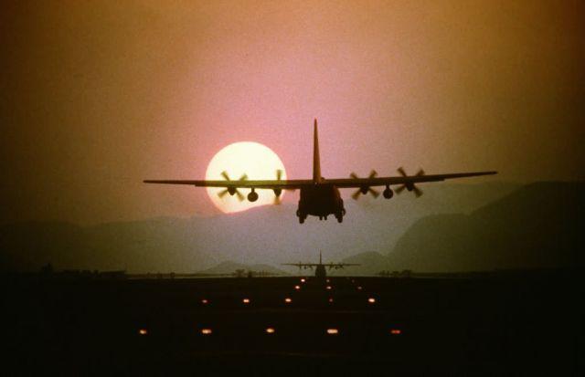 C-130 Hercules - Sun sets on Hercules Picture