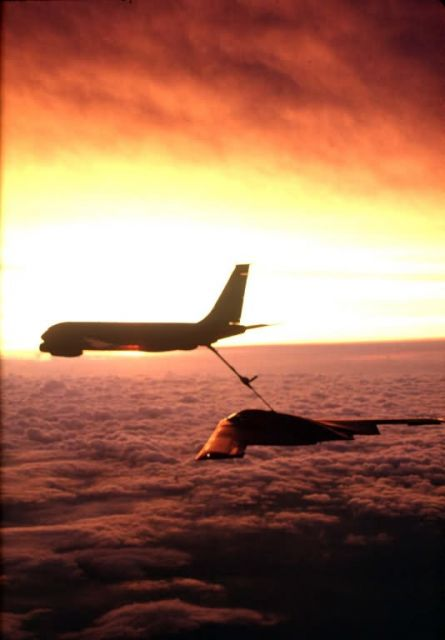 KC-135 Stratotanker - Sunset refueling Picture
