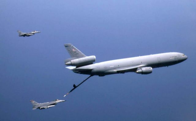 KC-10A Extender - Refueling Falcons Picture