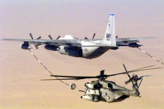 An Air Force MC-130P Combat Shadow -Thirsty Super Stallion Picture