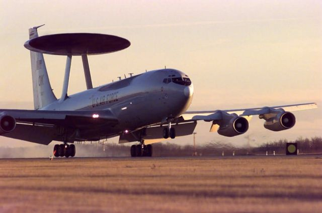 An E-3 Sentry airborne warning and control system (AWACS) Picture