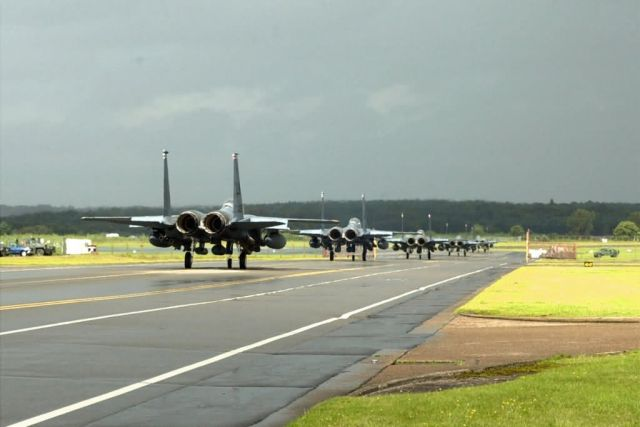 F-15E Strike Eagles - Strike Eagle Takeoff Picture
