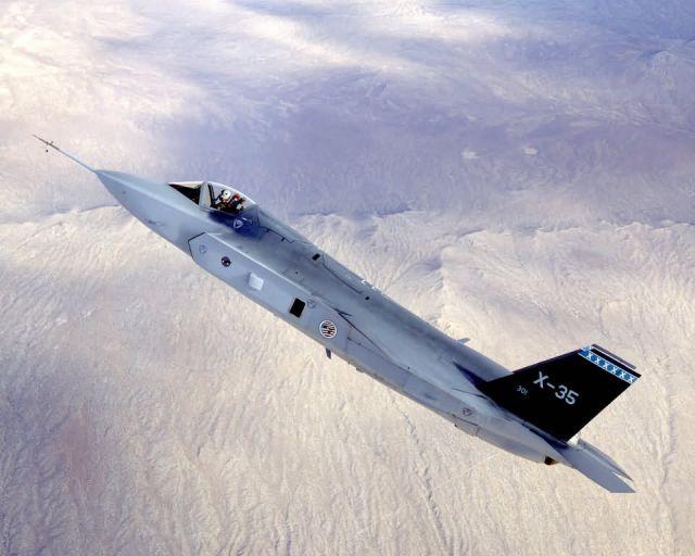 X-35C - Flight test Picture