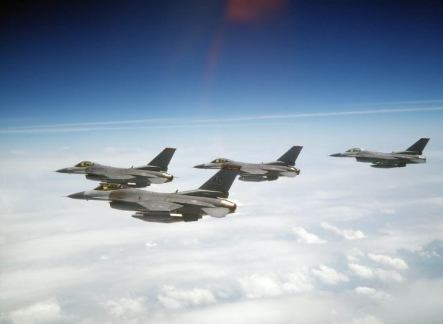F-16C Fighting Falcons - Flock of Falcons Picture