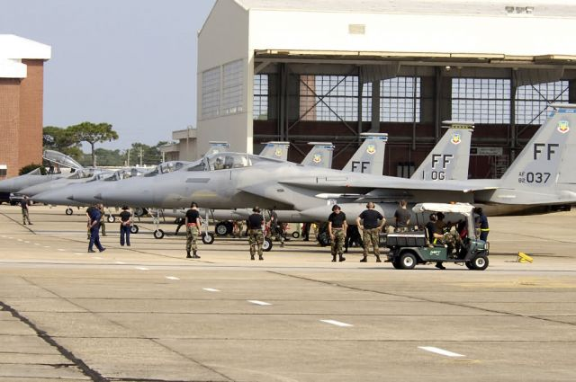 F-15 Eagles - Eglin provides shelter for Hurricane Ophelia evacuees Picture