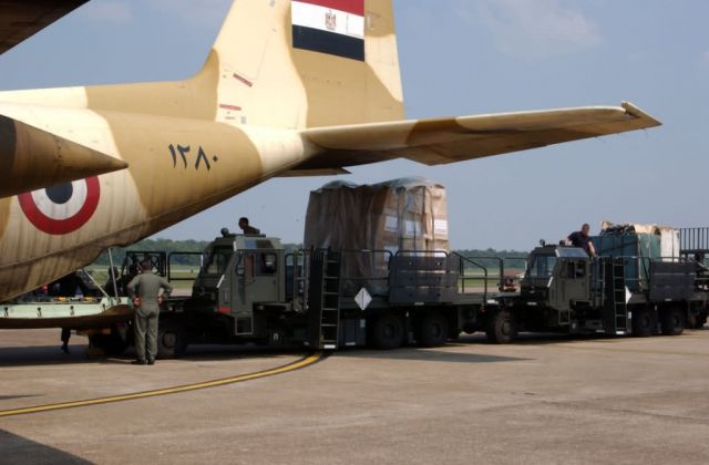 C-130 Hercules - International aid arrives Picture