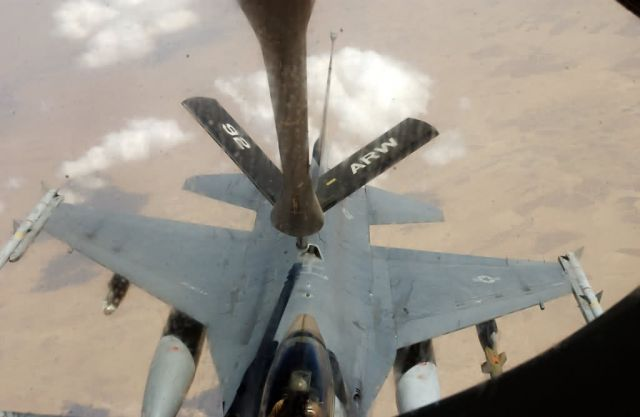 F-16 Fighting Falcon - Air refueling missions essential to ground troops Picture