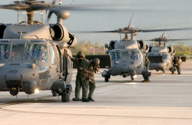 55th Rescue Squadron - AF helicopter crews rescue 221 hurricane victims Picture
