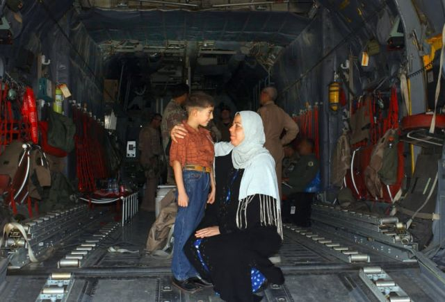 C-130 Hercules - Iraqi, AF C-130 crew flies boy to receive heart surgery Picture