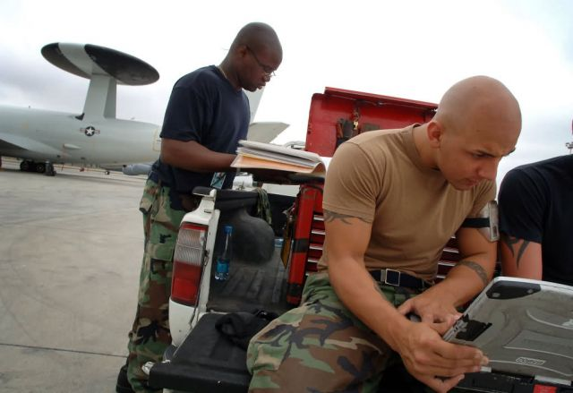 E-3 Sentry - Airmen support counterdrug mission in Manta Picture