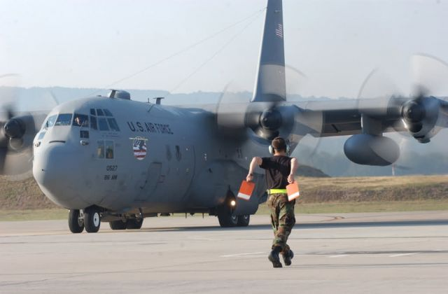 C-130 Hercules - Ramstein planes, Airmen depart for Darfur mission Picture