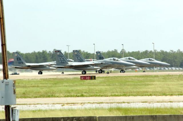 F-15 Eagles - Hurricane Dennis: Officials issue stop movement Picture
